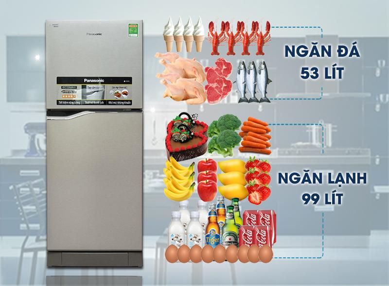 Tủ lạnh Panasonic 153 lít NR-BA178PSVN