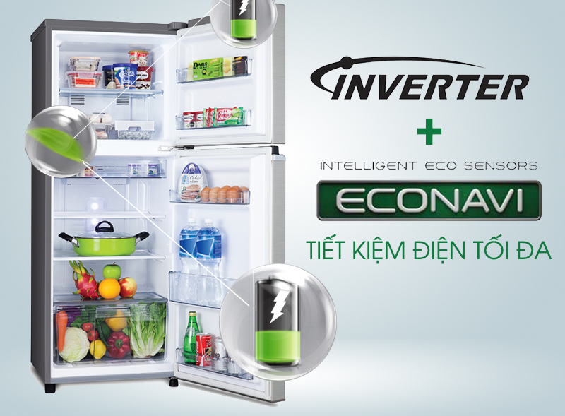 Công nghệ Inverter kết hợp cảm biến Econavi tiết kiệm điện