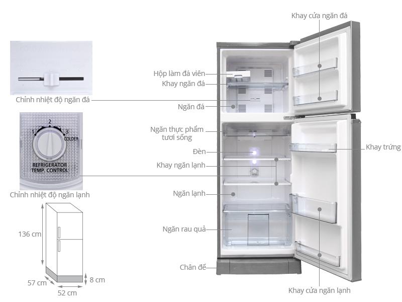 Thông số kỹ thuật Tủ lạnh Panasonic 188 lít NR-BA228PSVN