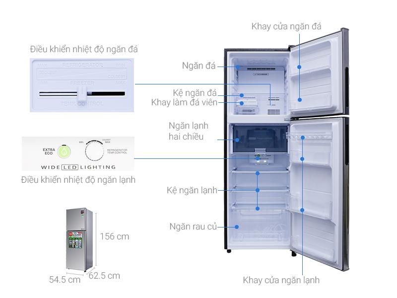Thông số kỹ thuật Tủ lạnh Sharp Inverter 224 lít SJ-X251E-SL