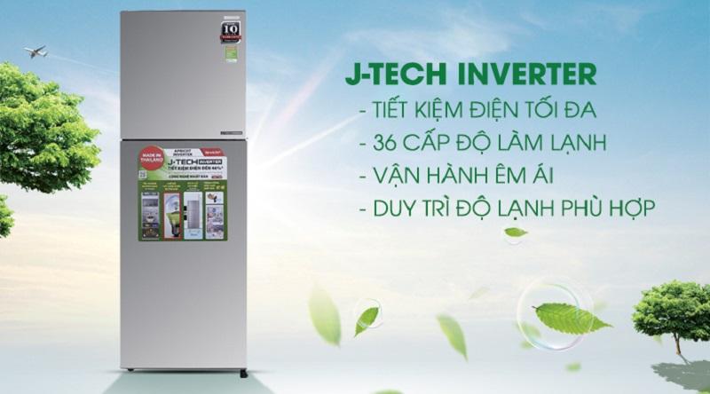 Công nghệ J-tech inverter hiện đại, tiết kiệm hiệu quả - Tủ lạnh Sharp Inverter 241 lít SJ-X251E-SL