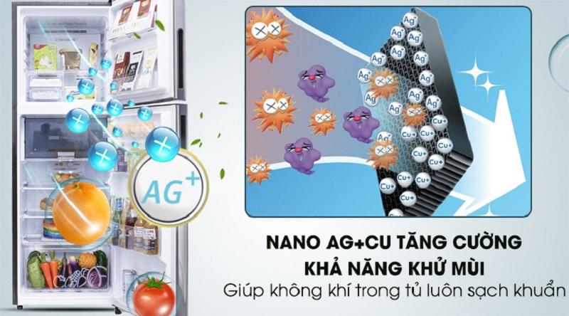 Công nghệ nano bạc-đồng khử mùi hiệu quả - Tủ lạnh Sharp Inverter 241 lít SJ-X251E-SL