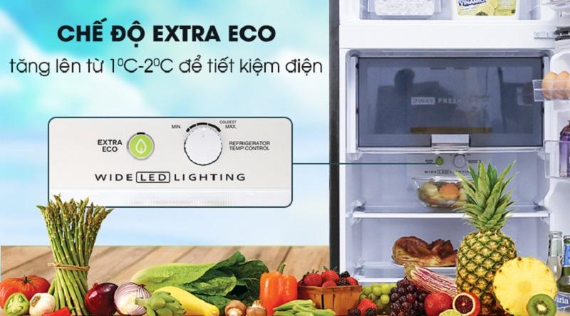 Tiết kiệm điện hơn với chế độ Extra Eco - Tủ lạnh Sharp Inverter 241 lít SJ-X251E-SL