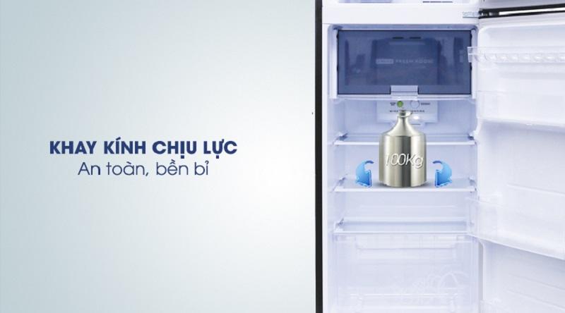 Khay kính chịu lực bền bỉ - Tủ lạnh Sharp Inverter 241 lít SJ-X251E-SL