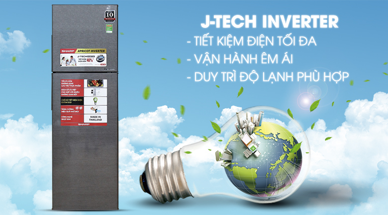 Công nghệ J-Tech Inverter - Tủ lạnh Sharp Inverter 271 lít SJ-X281E-DS