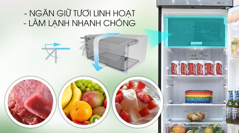Ngăn giữ tươi linh hoạt - Tủ lạnh Sharp Inverter 271 lít SJ-X281E-DS
