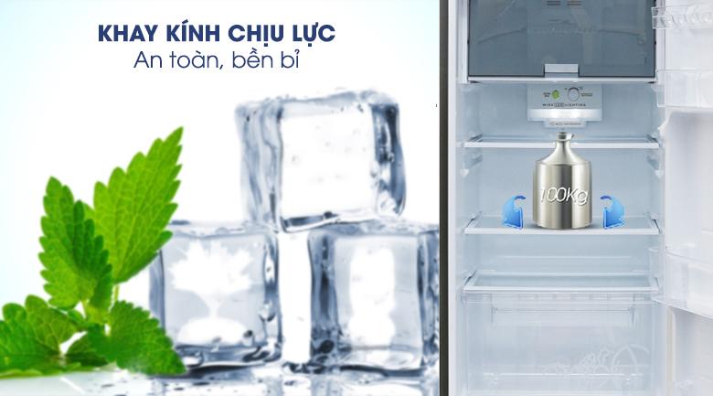 Khay kính chịu lực - Tủ lạnh Sharp Inverter 271 lít SJ-X281E-DS