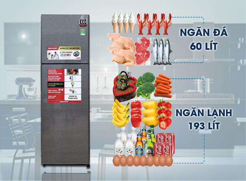 Tủ lạnh Sharp SJ-X281E-DS