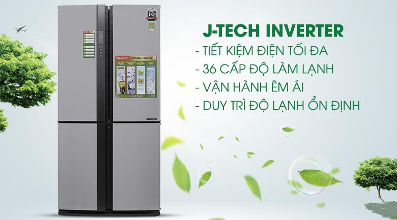 Công nghệ Inverter - Tủ lạnh Sharp SJ-FX680V-ST