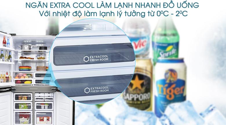Làm lạnh nhanh  - Tủ lạnh Sharp SJ-FX680V-ST