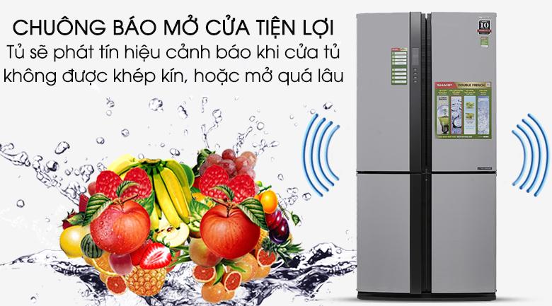 Chuông báo mở cửa  - Tủ lạnh Sharp SJ-FX680V-ST