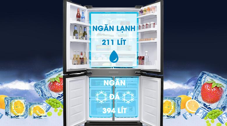 Tủ lạnh Sharp SJ-FX680V-ST - Dung tích 687 lít