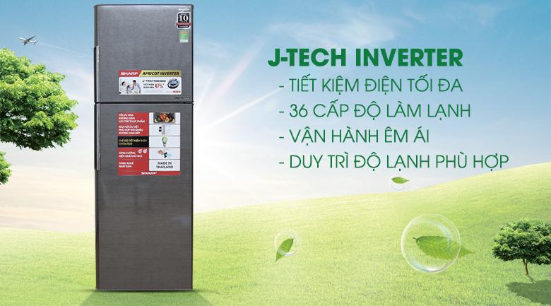 Công nghệ J-Tech Inverter - Tủ lạnh Sharp Inverter 342 lít SJ-X346E-DS