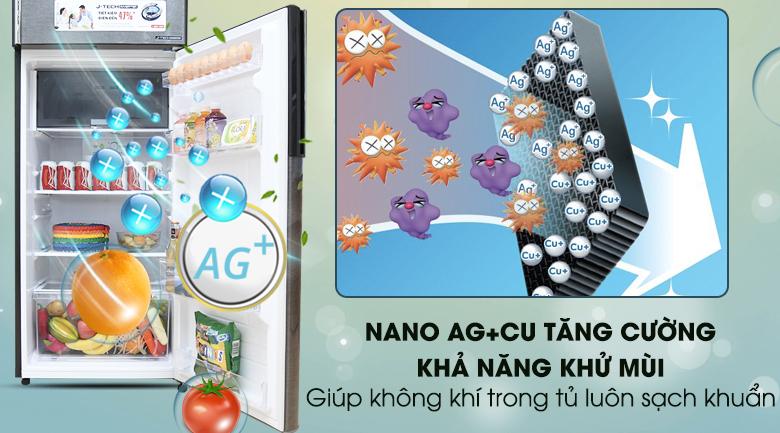 Bộ lọc Nano Ag + Cu - Tủ lạnh Sharp Inverter 342 lít SJ-X346E-DS