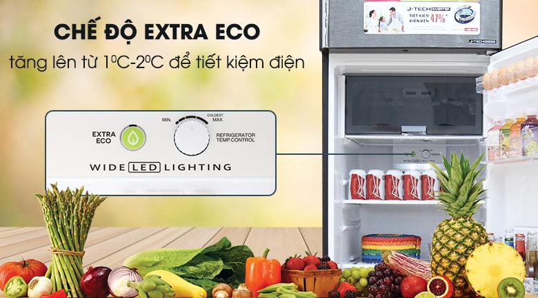 Chế độ Extra Eco - Tủ lạnh Sharp Inverter 342 lít SJ-X346E-DS