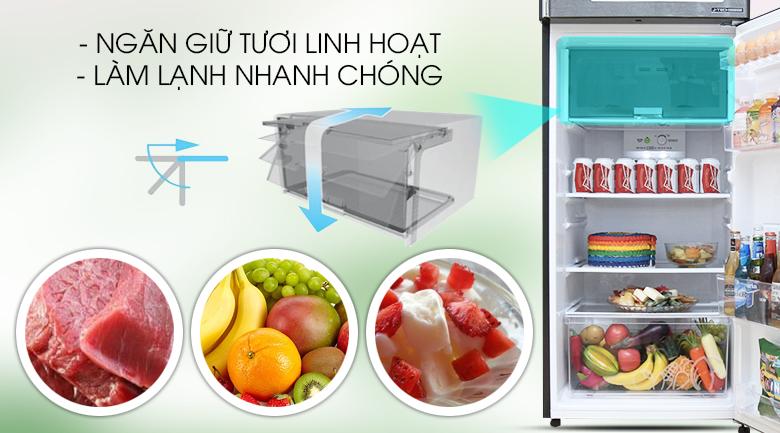 Ngăn giữ tươi linh hoạt - Tủ lạnh Sharp Inverter 342 lít SJ-X346E-DS