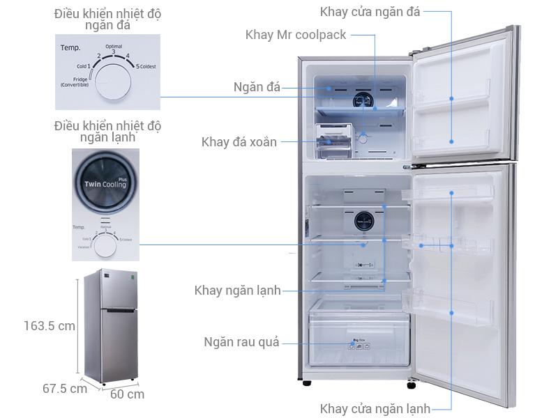 Thông số kỹ thuật Tủ lạnh Samsung 299 lít RT29K5012S8/SV