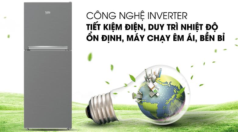 Tủ lạnh Beko RDNT230I50VZX - Máy nén Prosmart Inverter giúp tiết kiệm điện, làm lạnh ổn định