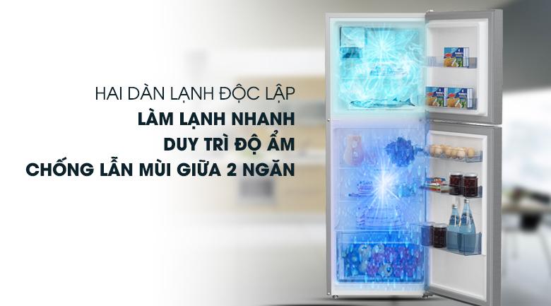 Tủ lạnh Beko RDNT230I50VZX - Công nghệ làm lạnh độc lập giúp làm lạnh nhanh, giữ ẩm tốt, không lẫn mùi