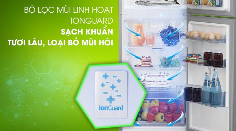 Tủ lạnh Beko RDNT230I50VZX - Bộ lọc mùi linh hoạt IonGuard giúp tủ luôn trong lành