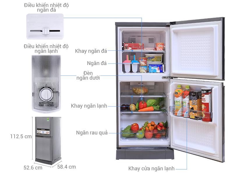 Thông số kỹ thuật Tủ lạnh Panasonic 135 lít NR-BJ158SSVN