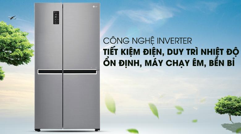 Vận hành êm ái, tiết kiệm với công nghệ Inverter - Tủ lạnh LG Inverter 626 lít GR-B247JS
