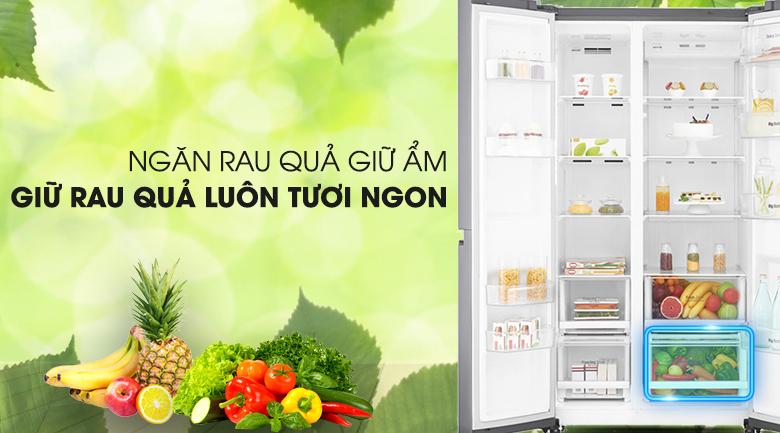 Trang bị công nghệ giữ ẩm tối ưu cho rau củ - Tủ lạnh LG Inverter 626 lít GR-B247JS