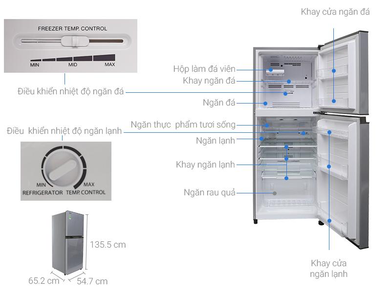 Thông số kỹ thuật Tủ lạnh Toshiba 186 lít GR-M25VBZ(S)