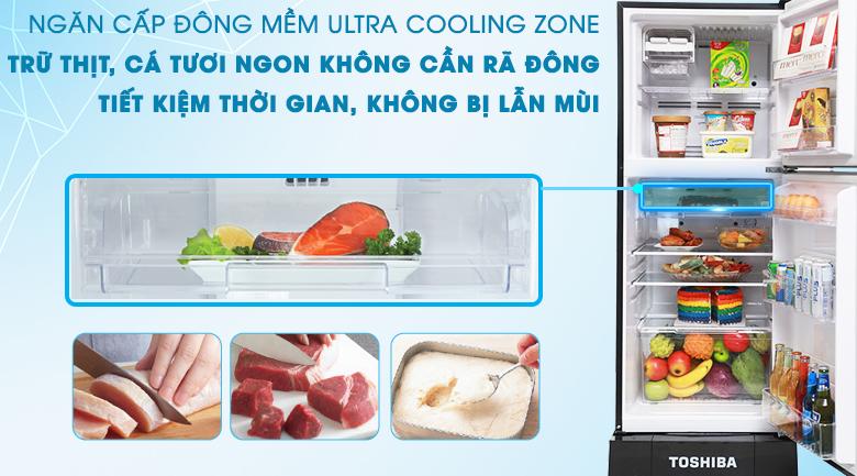 Ngăn đông mềm - Tủ lạnh Toshiba 186 lít GR-M25VMBZ(UKG)