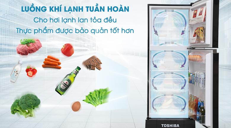 Luồng khí lạnh tuần hoàn - Tủ lạnh Toshiba 186 lít GR-M25VMBZ(UKG)