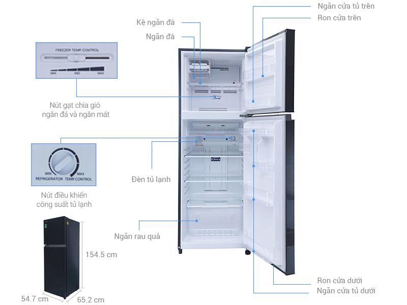 Thông số kỹ thuật Tủ lạnh Toshiba 226 lít GR-M28VHBZ(UKG)