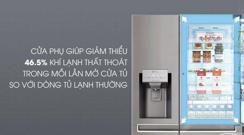 Thiết kế của phụ giúp giữ nhiệt tốt hơn - Tủ lạnh LG Inverter 601 lít GR-P247JS