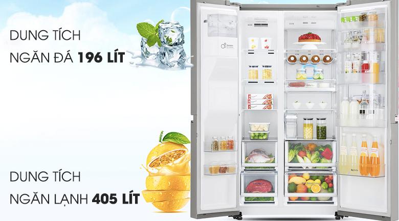 Dung tích 601 lít - Tủ lạnh LG Inverter 601 lít GR-P247JS