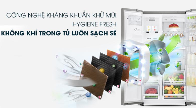 Kháng khuẩn, khử mùi với công nghệ Hygiene Fresh - Tủ lạnh LG Inverter 601 lít GR-P247JS