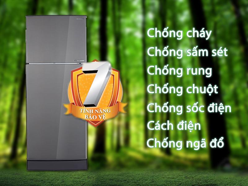 Tủ lạnh Sharp Inverter 196 lít SJ-X201E-DS - 7 tính năng bảo vệ ưu việt