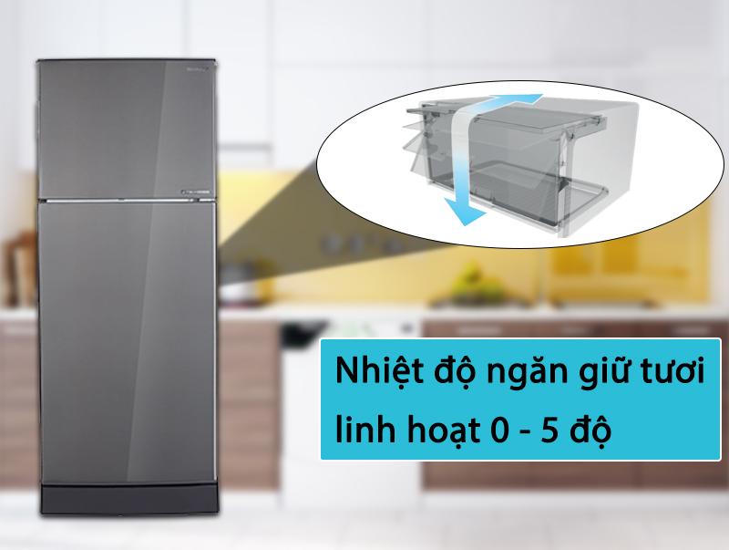 Tủ lạnh Sharp Inverter 196 lít SJ-X201E-DS - Ngăn giữ tươi linh hoạt