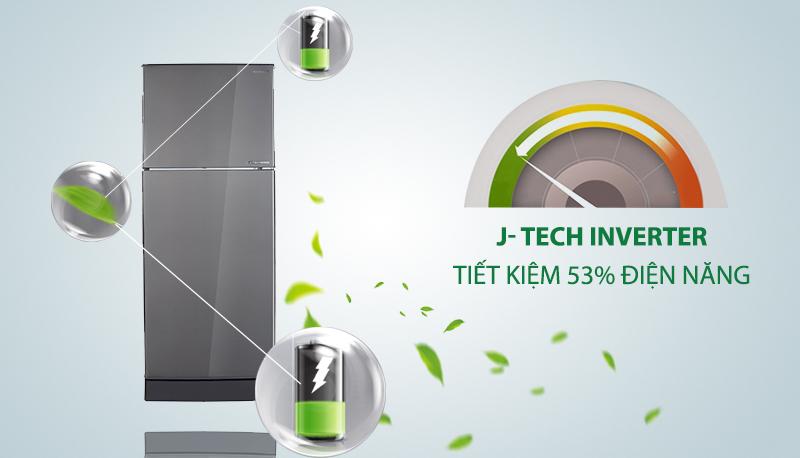 Tủ lạnh Sharp Inverter 196 lít SJ-X201E-DS - Công nghệ J-Tech Inverter
