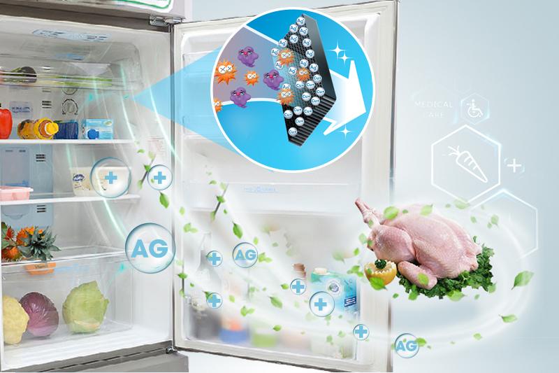 Tủ lạnh Sharp Inverter 196 lít SJ-X201E-DS - Khả năng khử mùi với Nano Ag+ Cu