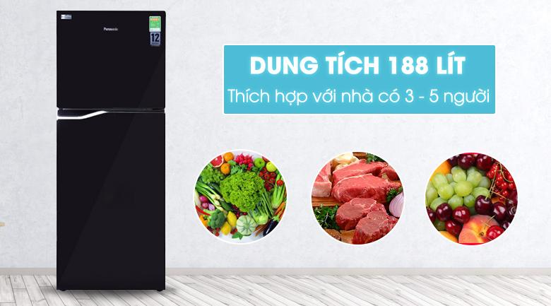 thiết kế tủ lạnh Panasonic NR-BA228PKV1