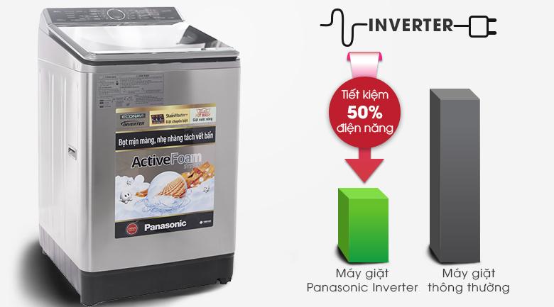 Công nghệ Inverter tiết kiệm điện - Máy giặt Panasonic Inverter 16 kg NA-FS16V5SRV