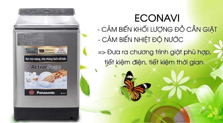 Cảm biến Econavi thông minh - Máy giặt Panasonic Inverter 16 kg NA-FS16V5SRV
