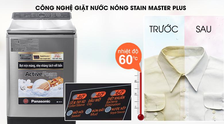 Công nghệ giặt StainMaster+ - Máy giặt Panasonic Inverter 16 kg NA-FS16V5SRV
