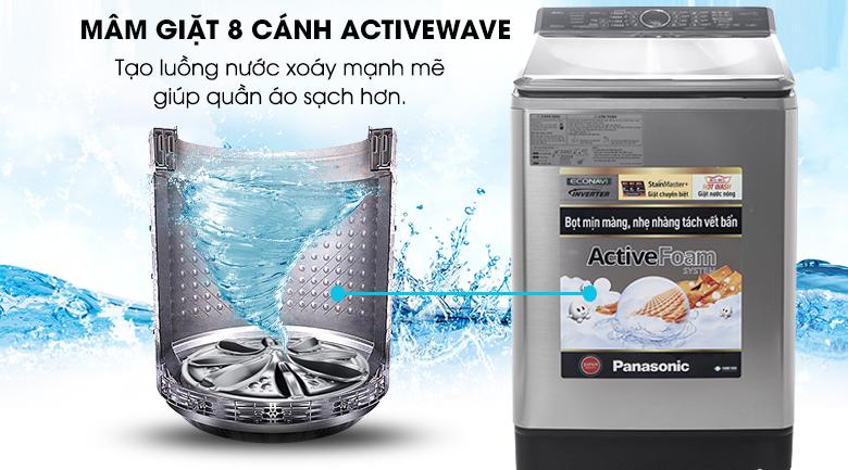 Mâm giặt 8 cánh Active Wave - Máy giặt Panasonic Inverter 16 kg NA-FS16V5SRV
