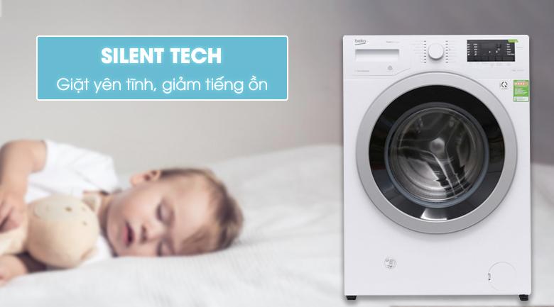 Công nghệ Silent Tech - Máy giặt Beko inverter 9 kg WMY 91283 PTLB2