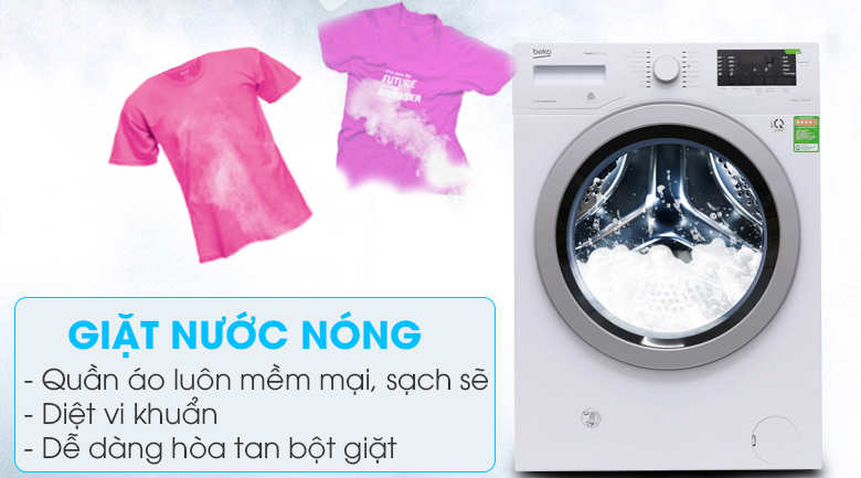 Giặt nước nóng - Máy giặt Beko inverter 9 kg WMY 91283 PTLB2