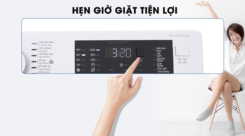 Hẹn giờ giặt tiện lợi - Máy giặt Beko inverter 9 kg WMY 91283 PTLB2