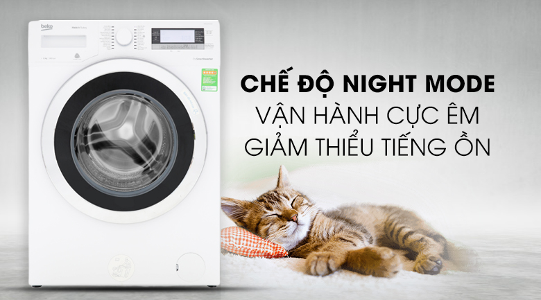 Công nghệ Night Mode - Máy giặt Beko Inverter 11kg WTE 11735 XCST