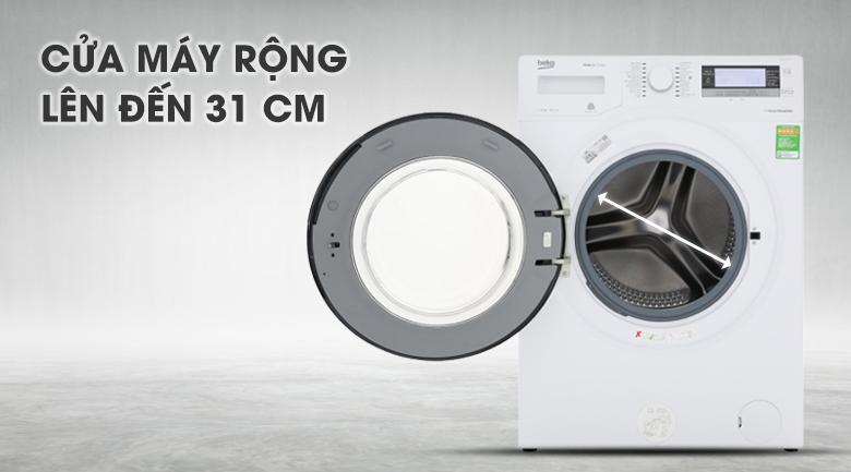 Cửa máy rộng lên đến 34 cm - Máy giặt Beko Inverter 11kg WTE 11735 XCST