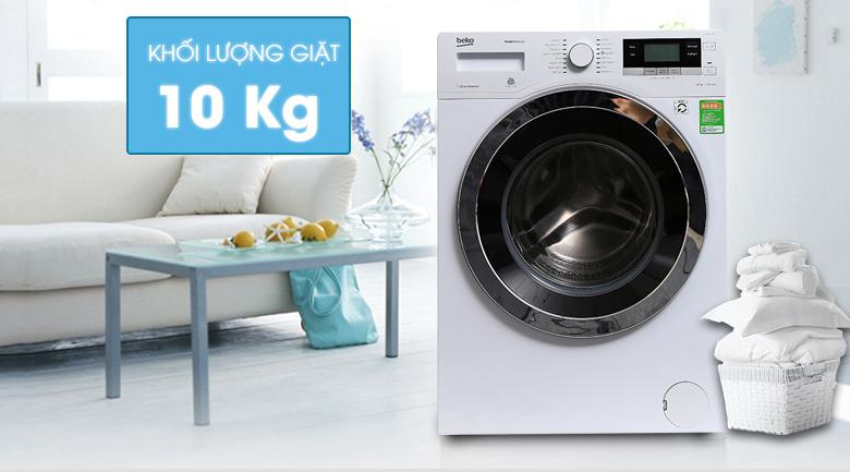 Khối lượng giặt - Máy giặt Beko Inverter 10 kg WY104764MW