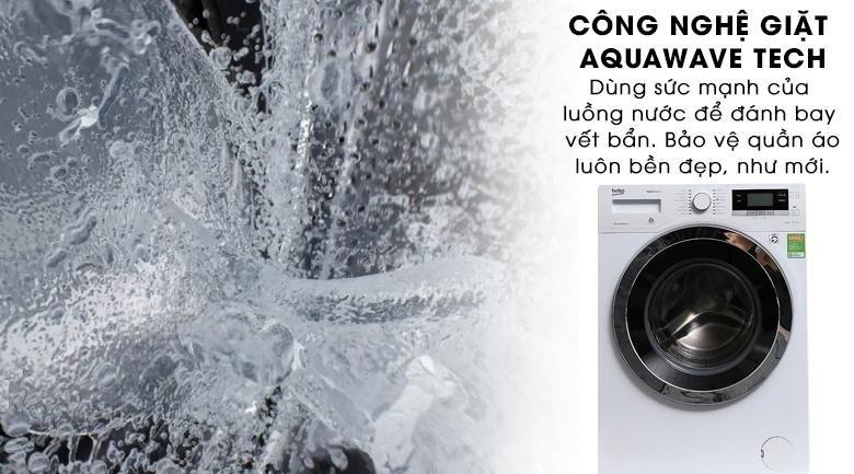 Công nghệ sóng nước AquaWave Tech - Máy giặt Beko Inverter 10 kg WY104764MW